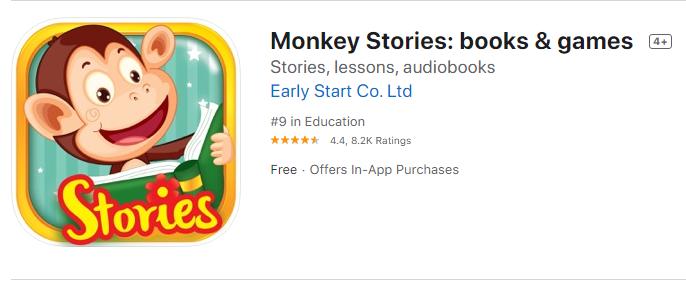 Tải và cài đặt miễn phí Monkey Stories trên Iphone, Ipad