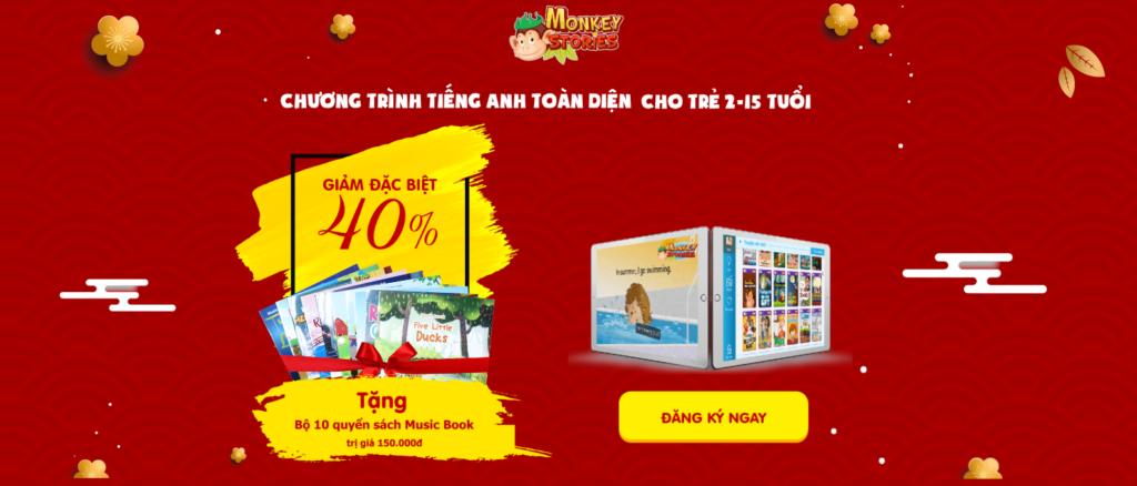 Khuyến mãi, giảm giá 40% Monkey Stories gói Trọn đời